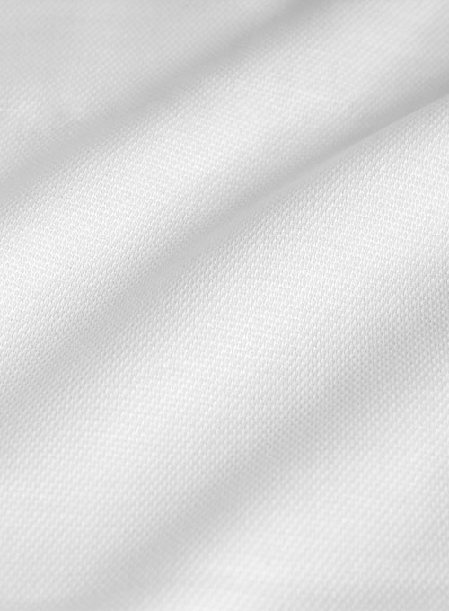 Italian Cotton Dobby Bressa White Shirt - Full Sleeves