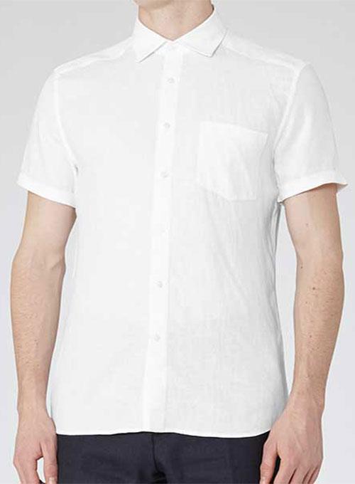 Short Sleeve Linen Shirt Men