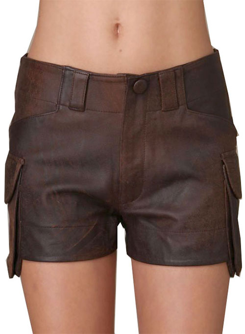 Leather Cargo Shorts Style # 350