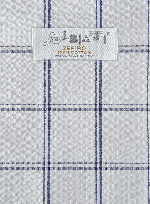 Solbiati White Checks Seersucker Suit