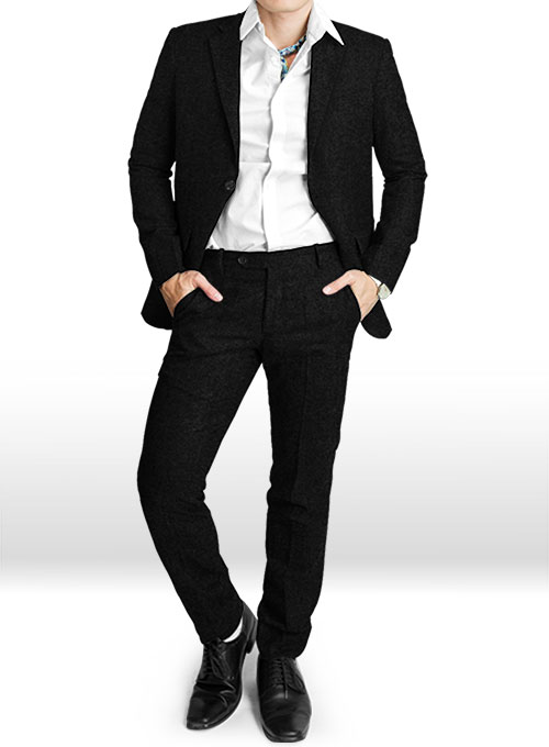 Black Tweed Suit - Click Image to Close