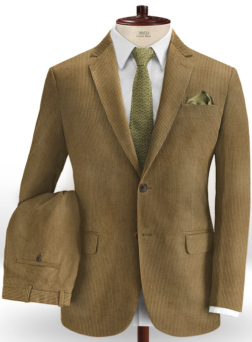 Brown Thick Corduroy Suit