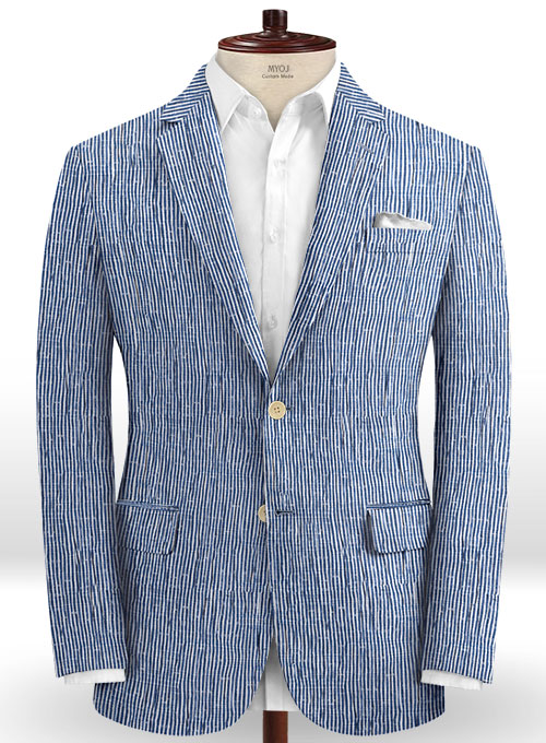 Caccioppoli Seersucker Gisde Suit - Click Image to Close