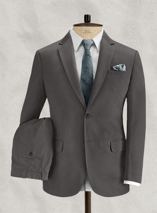 Charcoal Gray Stretch Chino Suit