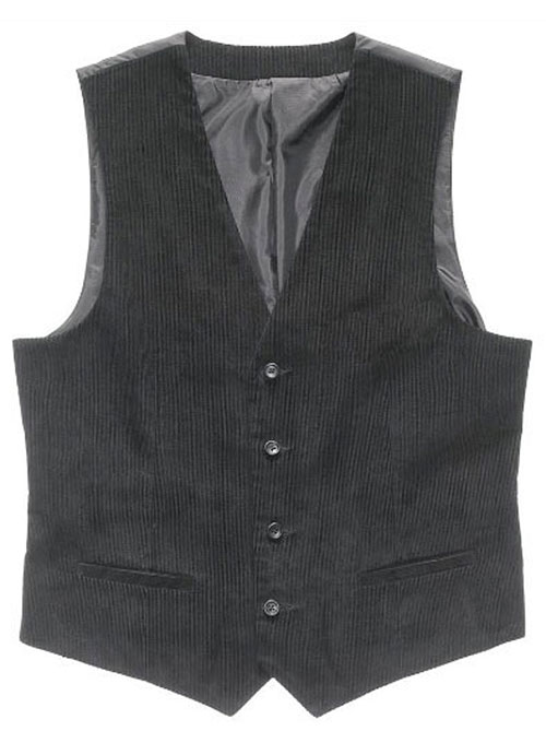 Corduroy Waist Coat - Pre Set Sizes - Quick Order