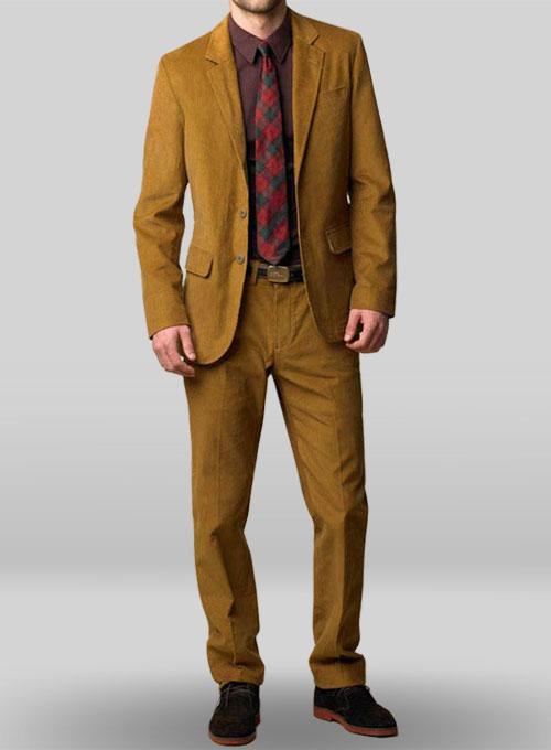 Brown Corduroy Suit Dress Yy