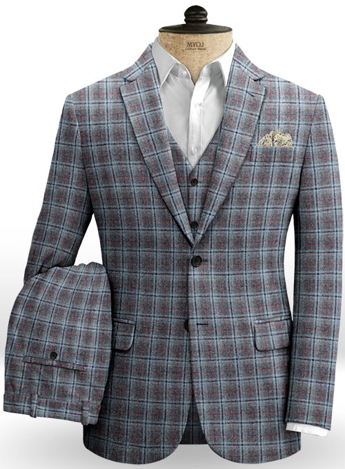 Country Gray Tweed Suit