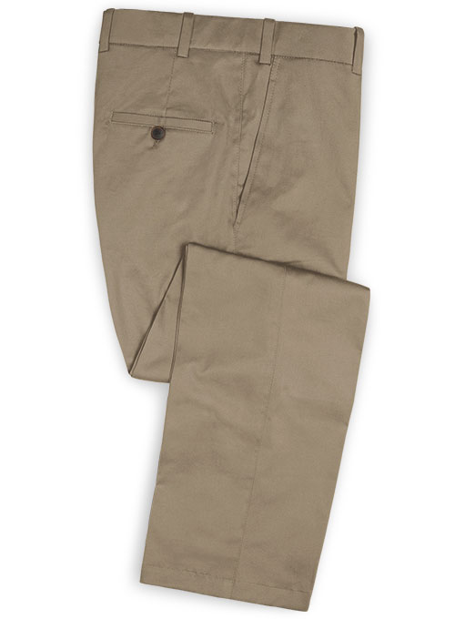 Dark Beige Stretch Chino Suit - Click Image to Close