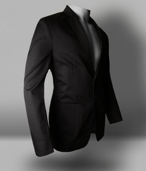 Dark Gray Fine Twill Jacket