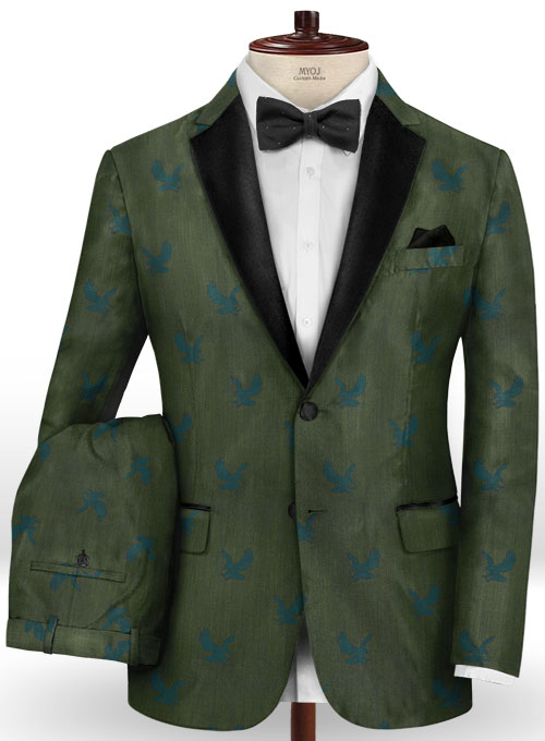 Eagle Green Wool Tuxedo Suit