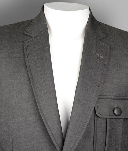 Evoq Dk Gray Pure Wool Danish Style Sports Coat