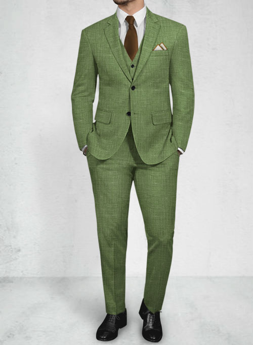 Trendy Fashion Colors Wool Linen Suits