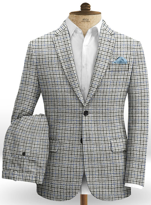 Harris Tweed Classic White Suit