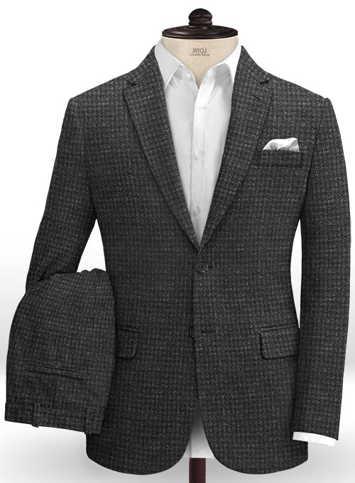 Harris Tweed Houndstooth Charcoal Suit