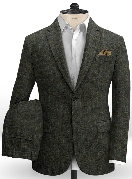 Harris Tweed Melange Stripe Suit