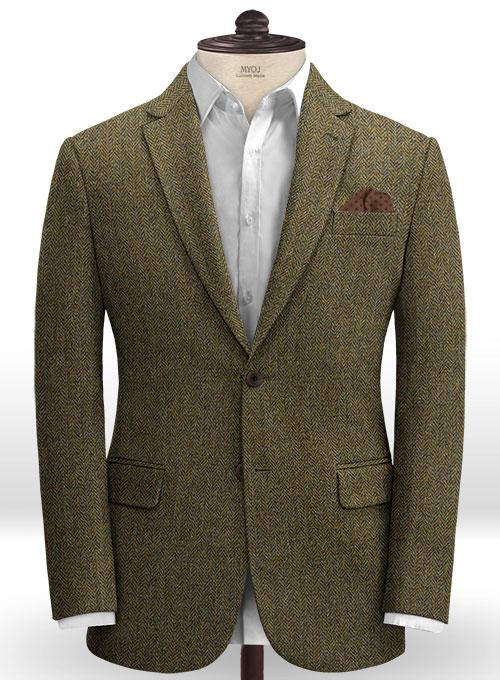 Harris Tweed Ridge Brown Herringbone Suit