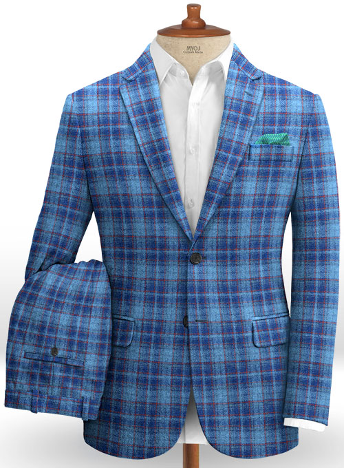 Harris Tweed Tartan Blue Suit