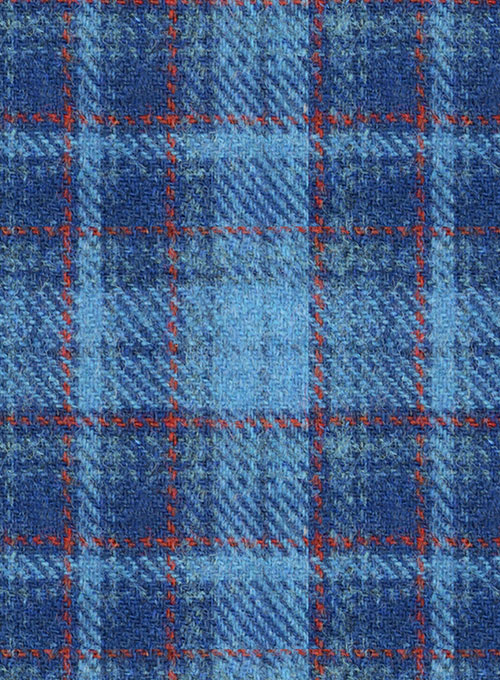 Harris Tweed Tartan Blue Suit - Click Image to Close