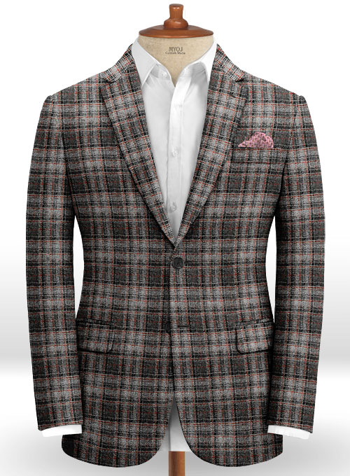 Harris Tweed Tartan Gray Suit - Click Image to Close