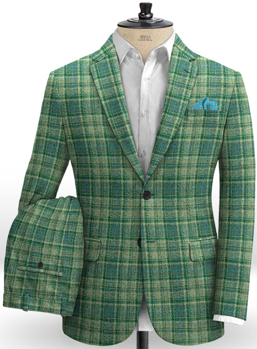 Harris Tweed Tartan Green Suit