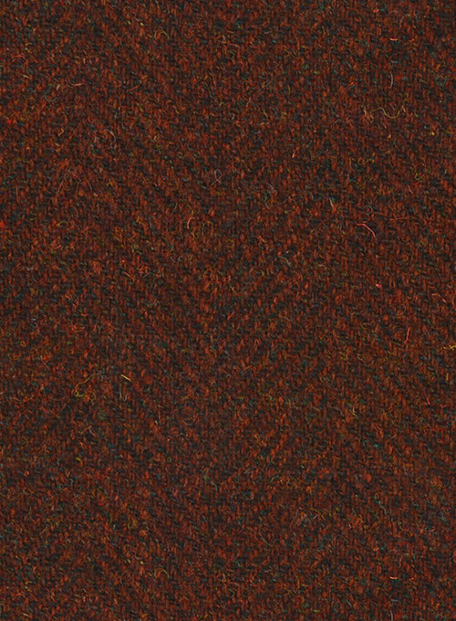 Harris Tweed Wide Herringbone Rust Suit