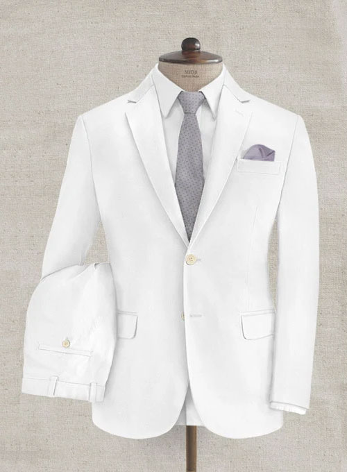 Heavy White Chino Suit