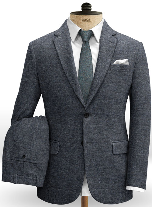 Indigo Blue Tweed Suit