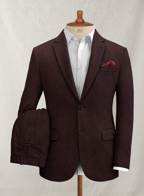 Italian Mahogany Red Tweed Suit