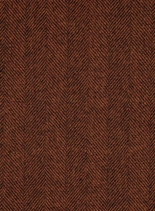 Italian Wide Herringbone Brunette Tweed Suit