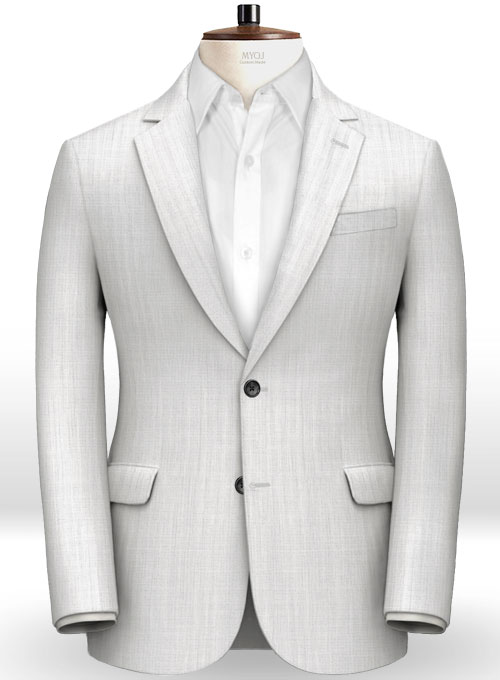 Italian White Prince Linen Suit - Click Image to Close