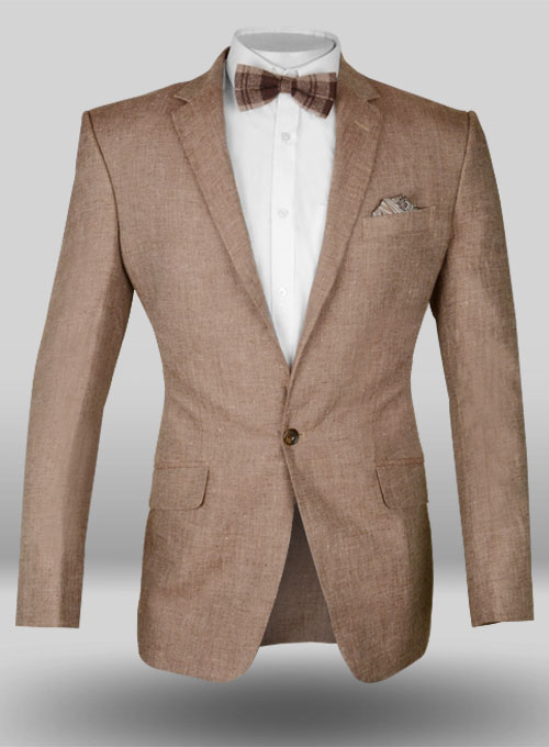 Spectre – Brown Linen-Blend Jacket in Morocco. wearing them both casually with a Matchless suede blouson jacket and more formally with a linen jacket and tie. Light brown wool-linen-silk blend Brunello Cucinelli single-breasted 3-button jacket with notch lapels (with under-collar button through functioning keyhole-cut lapel buttonhole.