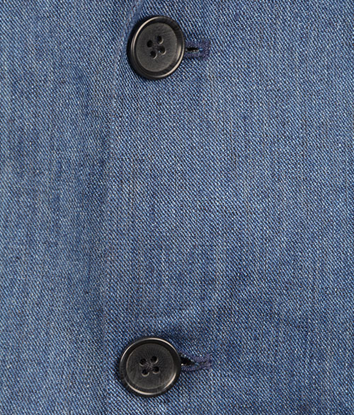 Italian Denim Indigo Linen Jacket