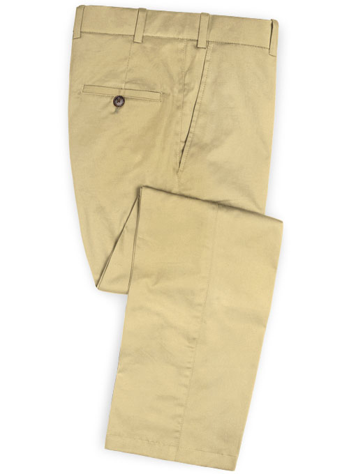 Italian Khaki Peach Finish Chino Suit - Click Image to Close