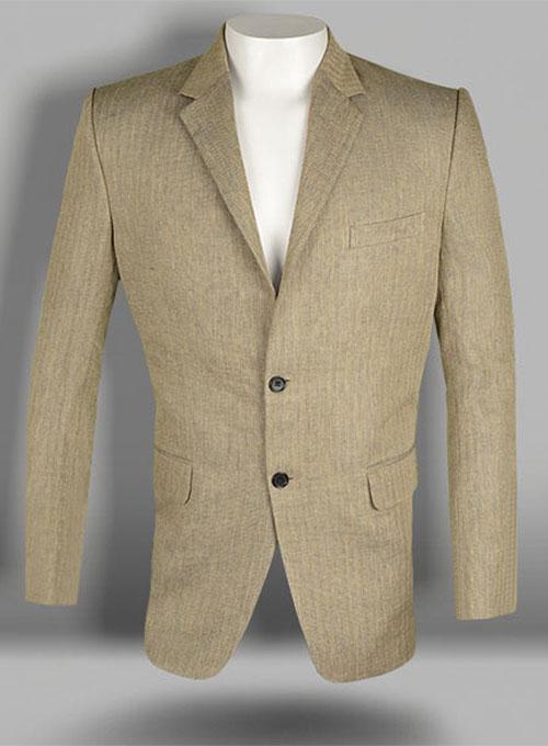 Italian Veneto Herringbone Linen Jacket Makeyourownjeans
