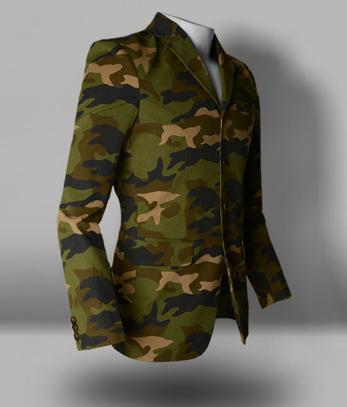 Jungle Green Brown Camo Jacket