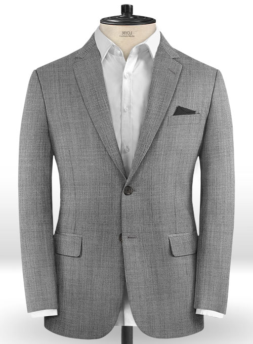 Light Gray Pick & Pick Wool Suit - Click Image to Close