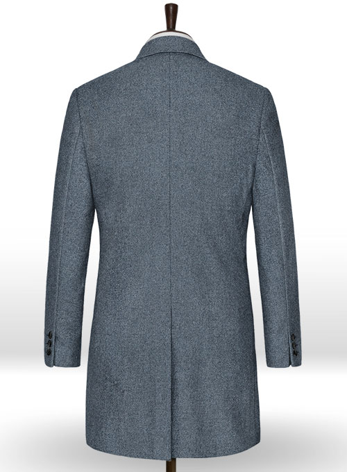 Light Weight Bond Blue Tweed Overcoat - Click Image to Close