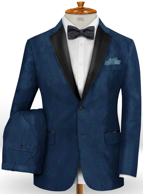 Lion Prussian Blue Wool Tuxedo Suit