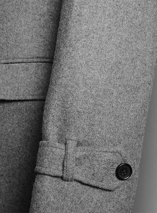 Plain Gray Tweed Overstyle Jacket
