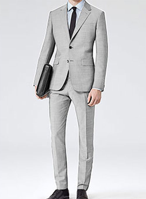 Light Gray Worsted Wool Suit