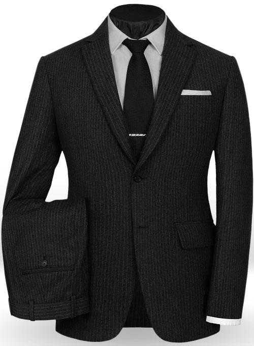 Light Weight Black Stripe Tweed Suit Makeyourownjeans