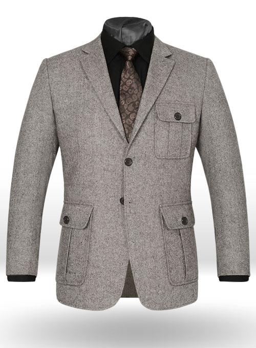 Lt Wt Brown Tweed Danish Style Sports Coat