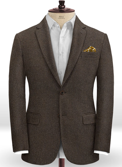 Light Weight Dark Brown Tweed Suit - Click Image to Close