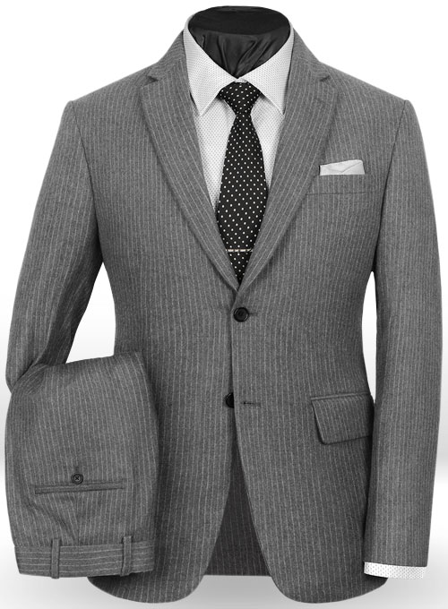 Light Weight Gray Stripe Tweed Suit Makeyourownjeans