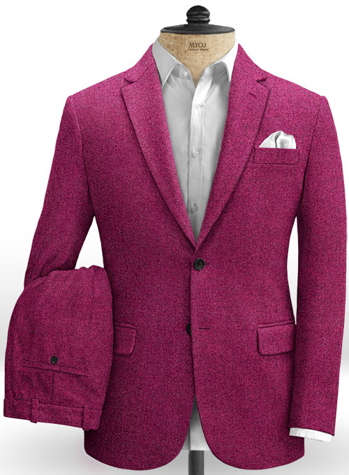 Melange Bubble Pink Tweed Suit