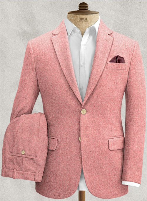 Melange Melon Tweed Suit