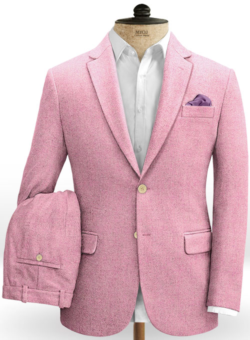 Melange Spring Pink Tweed Suit