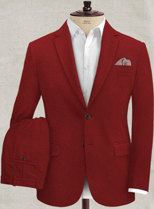 Melange Titan Red Tweed Suit