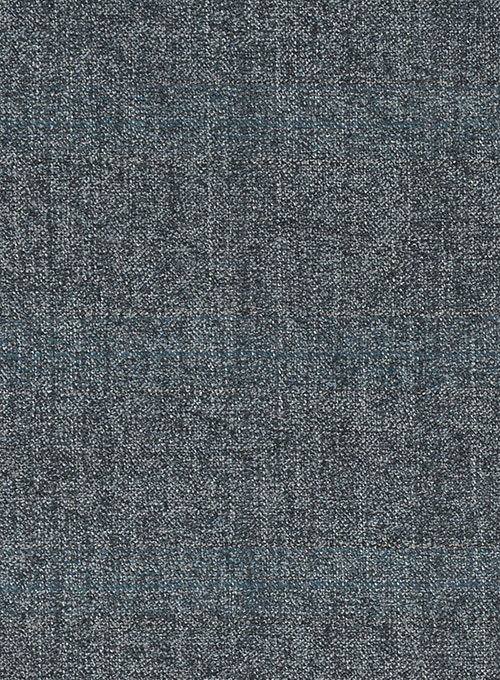 Milan Blue Feather Tweed Suit - Click Image to Close