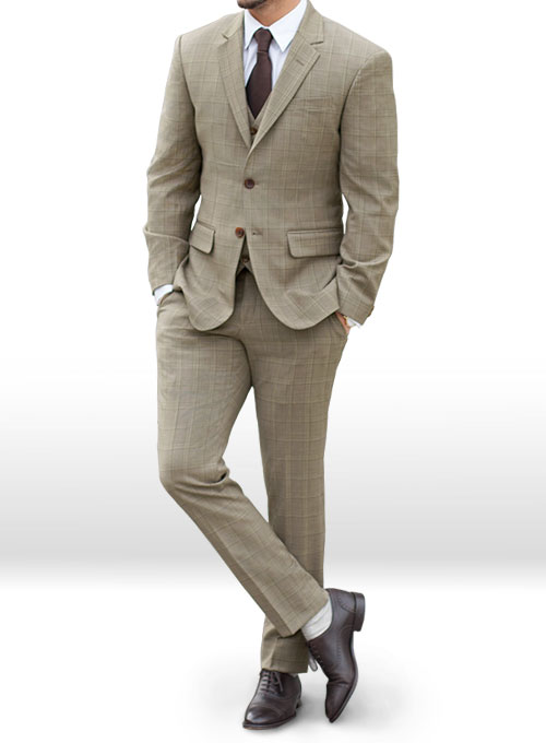 Napolean Beige Checks Wool Suit : MakeYourOwnJeans®: Made ...